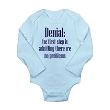 First Step of Denial Long Sleeve Infant Bodysuit