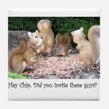 Funny Chipmunks Tile Coaster