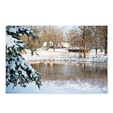 Tranquil Rural Snow Scene Postcards (Package of 8)