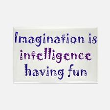 Imagination and Intelligence Rectangle Magnet