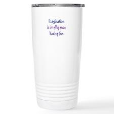 Imagination and Intelligence Travel Mug