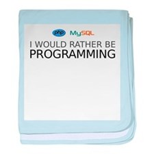 I'd rather be programming baby blanket