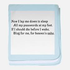 Blog for me! baby blanket