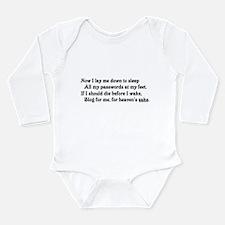 Blog for me! Long Sleeve Infant Bodysuit