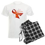 Leukemia Awareness Men's Light Pajamas