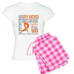 Supporting Hero Leukemia Women's Light Pajamas