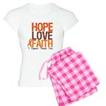 LEUKEMIA Hope Love Faith Women's Light Pajamas