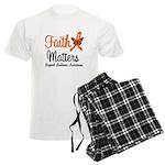 Leukemia: Faith Matters Men's Light Pajamas