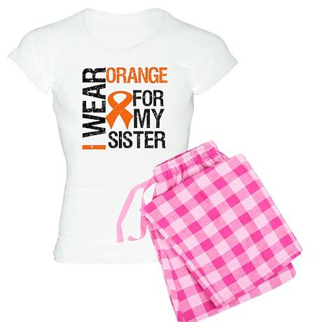 I Wear Orange For My Sister Women's Light Pajamas
