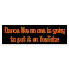 YouTube Dance Bumper Sticker