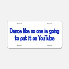 YouTube Dance Aluminum License Plate