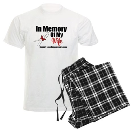 InMemoryWife Lung Cancer Men's Light Pajamas