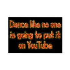 YouTube Dance Rectangle Magnet