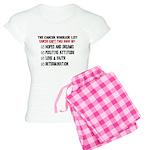 The Cancer Warrior List Women's Light Pajamas