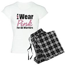 I Wear Pink Warriors Pajamas