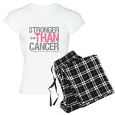 Stronger Than Cancer Breast C Pajamas