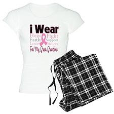 Great Grandma Breast Cancer Pajamas