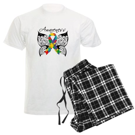 Awareness Butterfly Autism Men's Light Pajamas