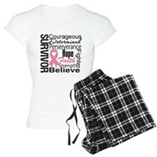 Breast Cancer Collage Pajamas