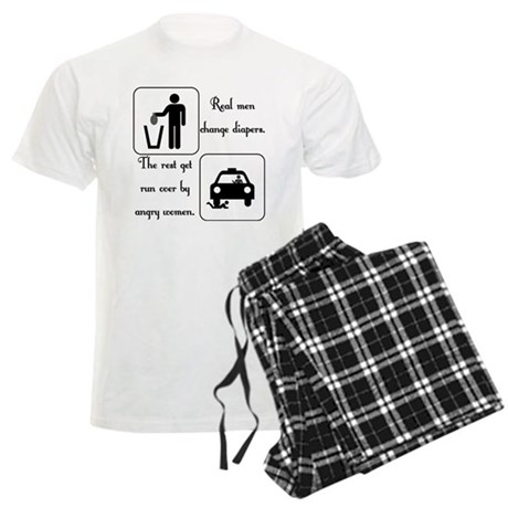 Real Men Change Diapers Men's Light Pajamas