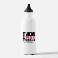 I Wear Pink Mother-in-Law Water Bottle