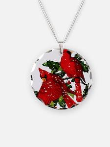 Snow Cardinals Necklace