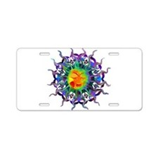 Chakra Sun Aluminum License Plate