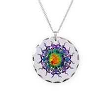 Chakra Sun Necklace Circle Charm