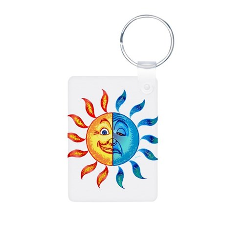 BiPolar Solar Aluminum Photo Keychain