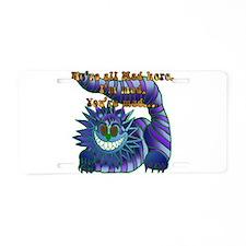 Mad Cheshire Cat Jade Aluminum License Plate
