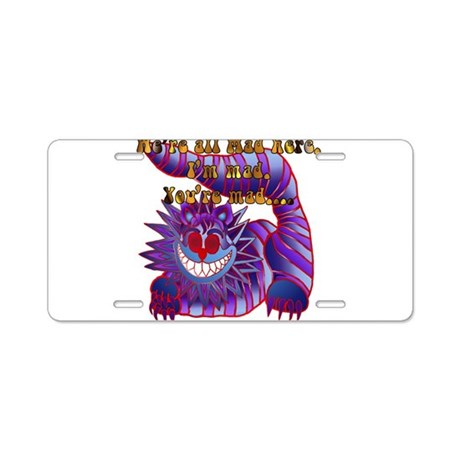 Mad Cheshire Cat Fire Aluminum License Plate