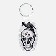 Raven Poe Aluminum Oval Keychain