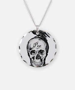 Raven Poe Necklace Circle Charm