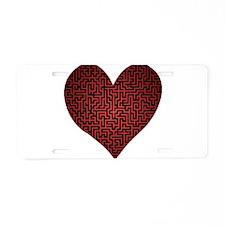Heart is a Maze Aluminum License Plate