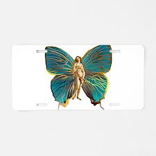 Venus Butterfly Aluminum License Plate