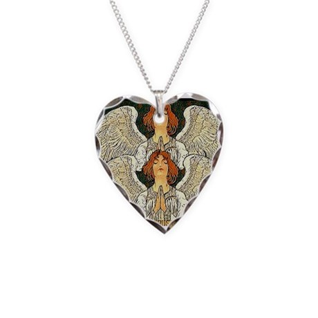 Pax Angel Necklace Heart Charm