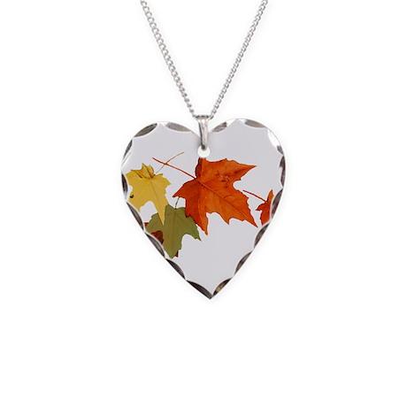 Autumn Colors Necklace Heart Charm