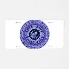 Inez Night Aluminum License Plate