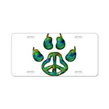 Paw Peace Aluminum License Plate