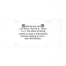 Bibliomania Aluminum License Plate
