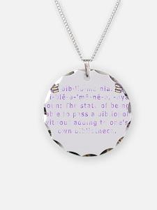 Bibliomania Necklace Circle Charm