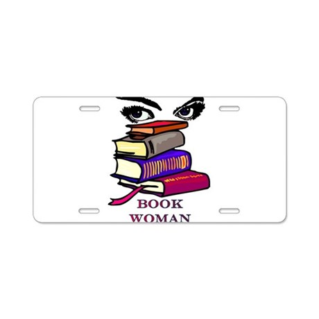 Book Woman Aluminum License Plate