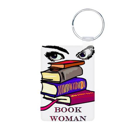 Book Woman Aluminum Photo Keychain