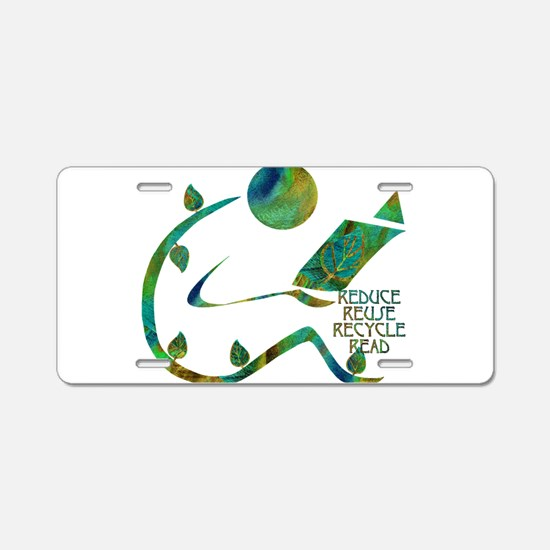 Four Rs Green Reader Aluminum License Plate