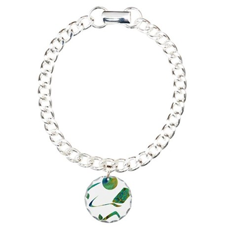 Green Reader Charm Bracelet, One Charm