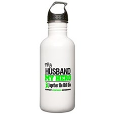 Lymphoma Hero Husband Water Bottle