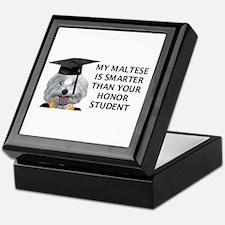 Cute My shih tzu is smarter than your honor student Keepsake Box