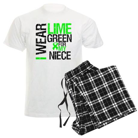 Lymphoma Ribbon Niece Men's Light Pajamas