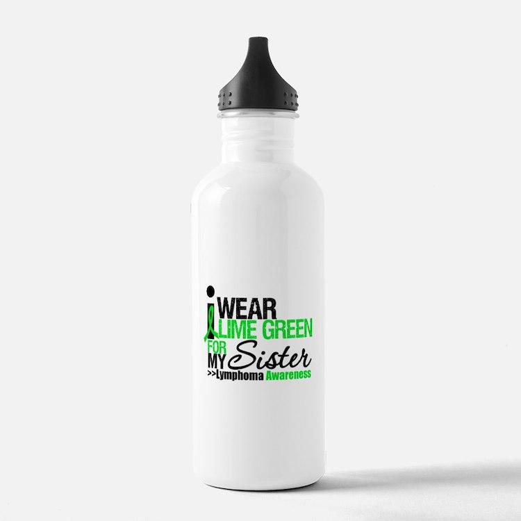 I Wear Lime Green Water Bottle