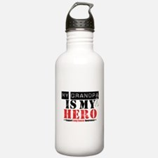 Lung Cancer Hero Grandpa Water Bottle
